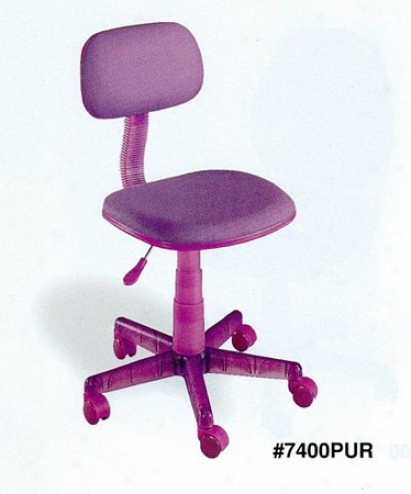 Purple Color Adjustable Home Office Desk Chair With Gas Lift