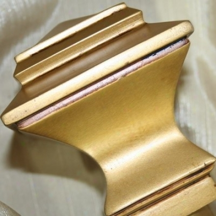 Quadrant Window Treatment Rod With Finial 84&quot To 120&quot In Ancient rarity Gold Finish