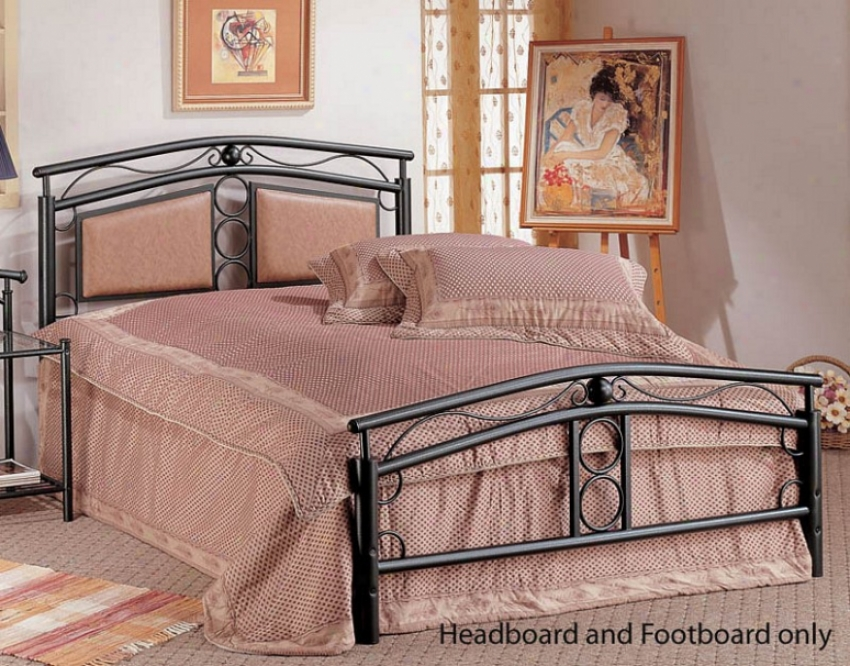 Queen Size Bed Headboard And Footboard - Dark Bronze Finish