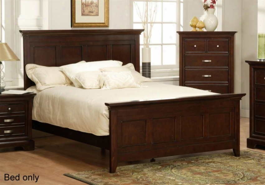 Queen Size Bed Array Headboard In Espresso Finish