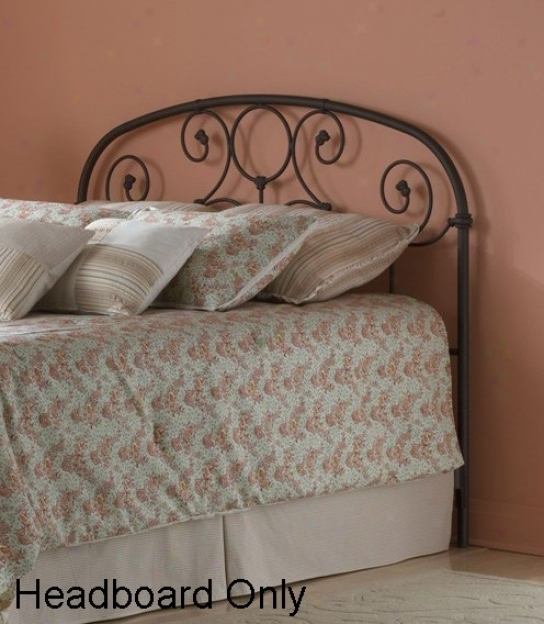 Queen Size Metal Headboard - Grafton Traditional Design In Rusty Gold Finish