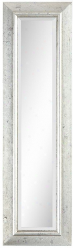 Rectangular Wall Mirror In Brushed Silver Finish