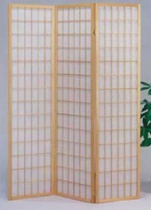 Unoccupied space Divider Panel With Checker Design In Natural Finish