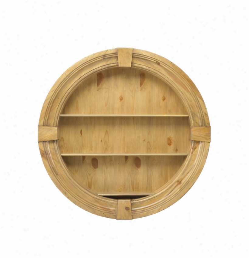 Round Wall Shelf With 3 Tier In Nantucket Wash Finish