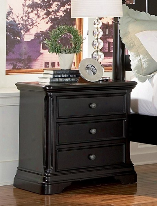 Sahara Bedroom Collection Espresso Finish Darkness Stand