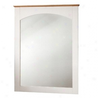 Shaker Style Pure White/maple Finish Mirror 29'' X 38''