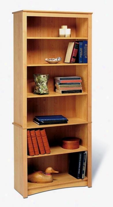 Sonoma Contemporary Mapl eFinish 6-shelf Bookcase