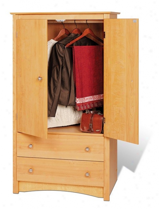 Sonoma Maple Finish Wardrobe Bedroom Armoife