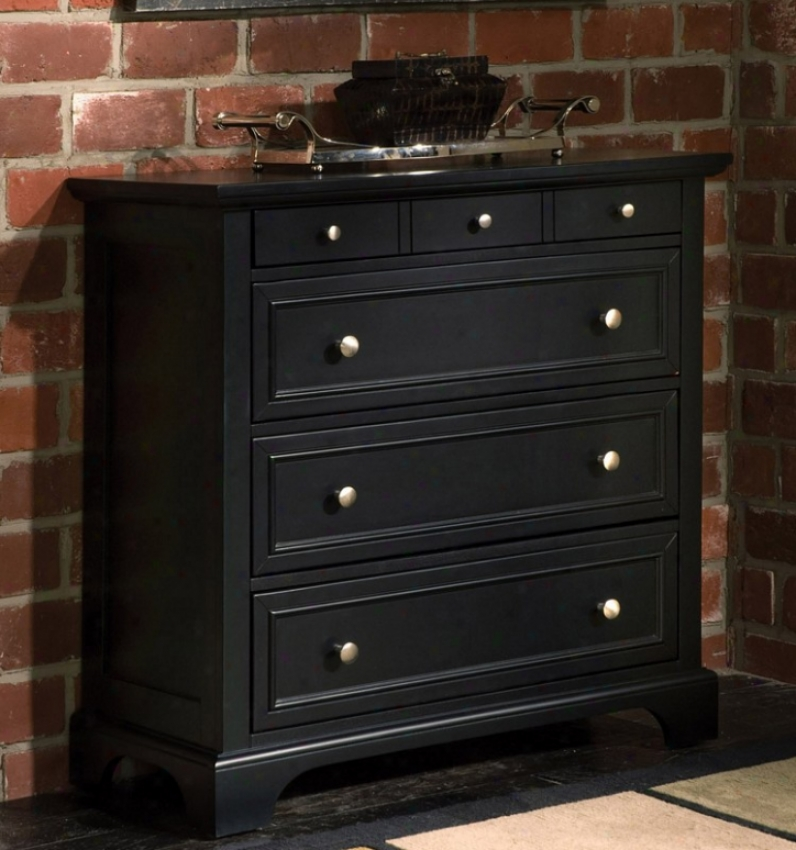 Storage Chest With Contemporary Style In Ebony Finish