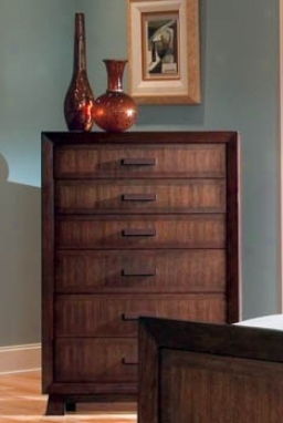 Storage Chest With Taper Feet In Rich Brown Finish