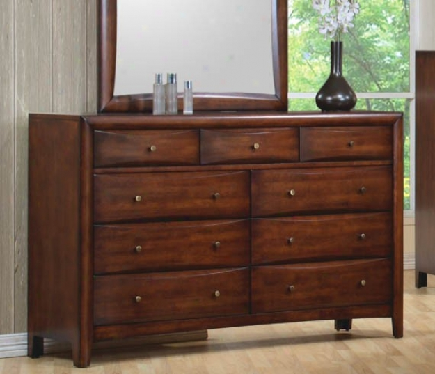 Storage Dresser Contemporary Style In Wsrm Brown Polishing