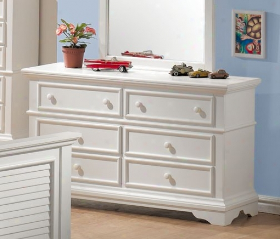 Storage Dresser With Shutter Design In White Accomplish