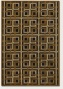 3'9&quot X 5'2&quot Area Rug Geometriv Pattern In Antique Brass