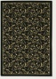 5'3&quot X 7'6&quot Area Rug Gold Scroll Fern Draa Ib Black Color