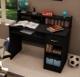 Home Office Small Computer Desk In Solid Black Finish