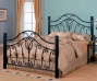 Queen Size Metal Receptacle Headboard And Footboard In Wicked Finish