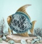 Tropical Fish Turquoise/gold Finish Decorative Figurie Synopsis Fan