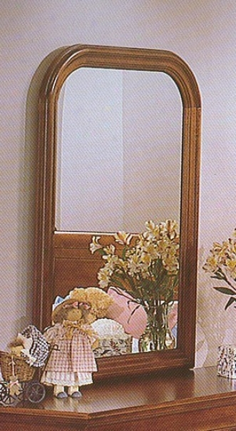 Traditional Stylee Warm Cherry Finish Bedroom Mirror