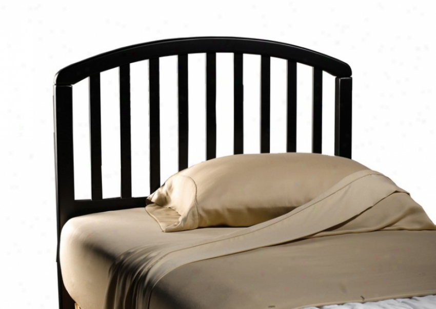 Twin Sizing Headboard With Slat Design In Black Finish