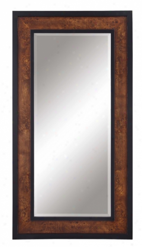 Wall Beveled Pattern With Black Frame In Olive Ash Burl Finish