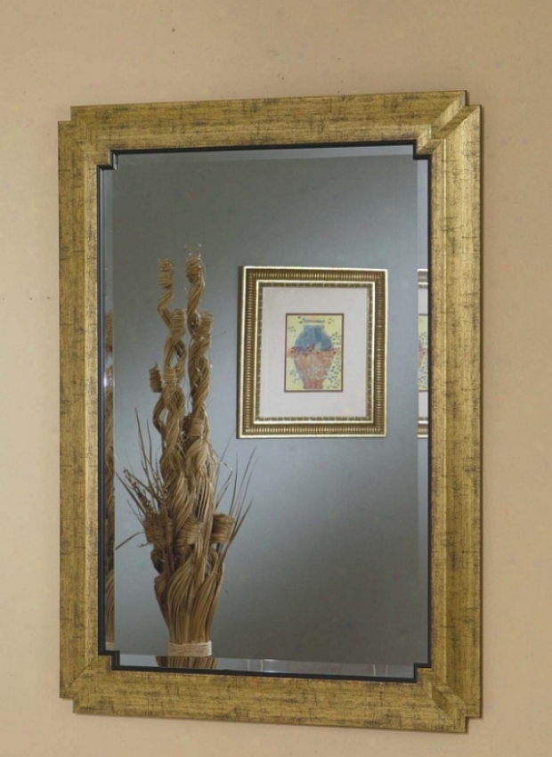 Wall Mirror In Gold Finish