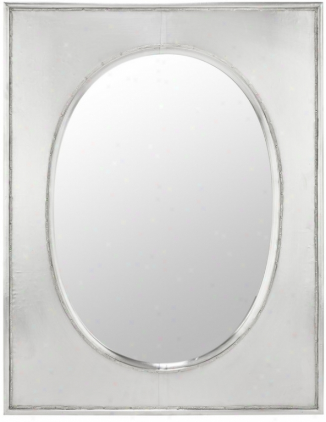 Wall Mirror In Silver Metal Finish