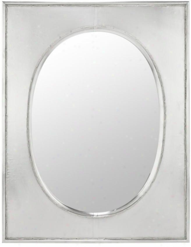 Wall Mirror In Silver Metal Finish