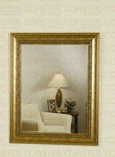 Wqll Mirror With Accent Frame In Gold And Brown Finish