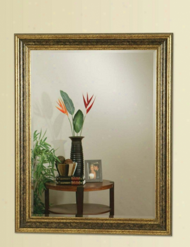 Wall MirrorW ith Accent Frame In Gold Finish