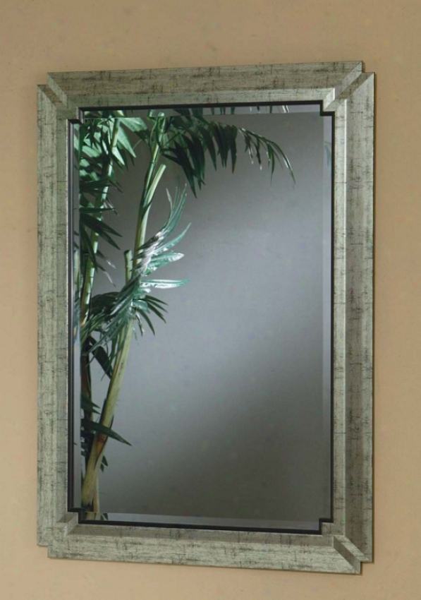 Wall Mirror With Metal Frame In Pewter Finish