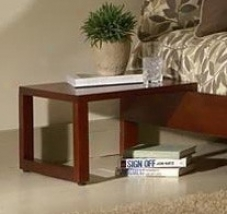 Wood Nightsstand Layer Side Table - Murray Platform Contemporary Design In Mahogany End