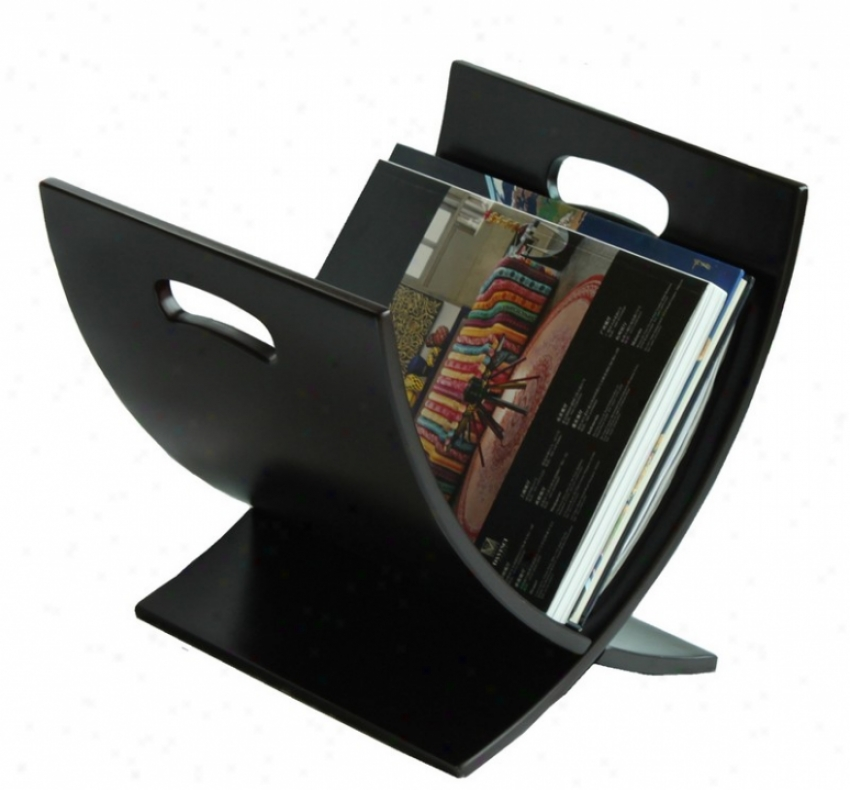 Wooden Magazine Rack Contemporary Style Espresso Finish