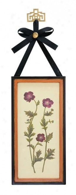 Wool Floral Art Wall Decor - Hock And Ribbon