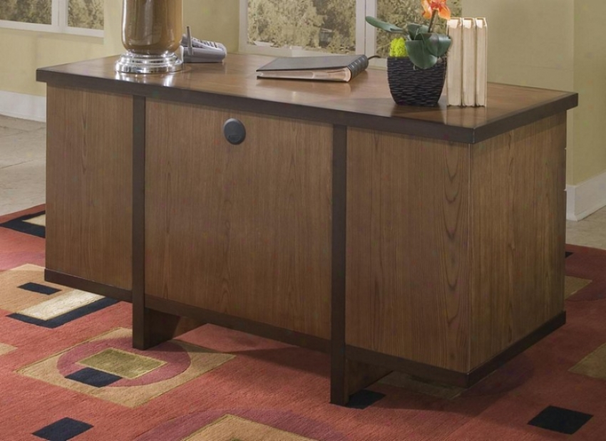 Writing Desk Contemporary Style In Two Tone Finish