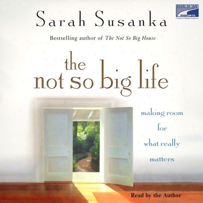 The Not So Big Life: Making Chance For What Really Matters (unabridged)