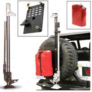 """60"""" Hi-lift X-treme Jack Kit With Jerry Can (red) & Intelligent Rack"""