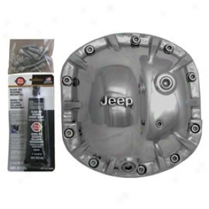 American Rebel, Outlaw Differential Cover (with Jeep Logo, Polished)