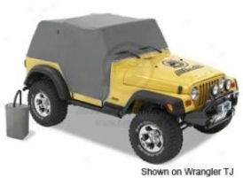 Bestop All Weather Trailcover Full Door Coverage Charcoal
