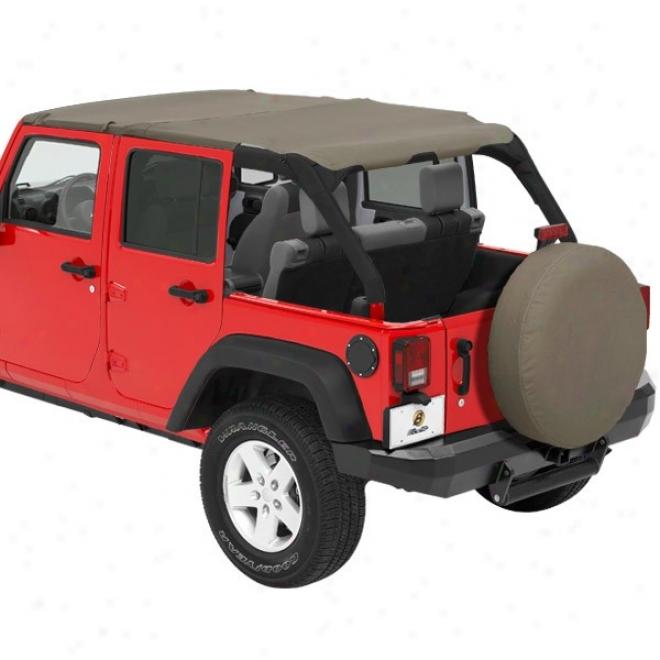 Bestop Header Safari Bikini-windshield Channel Kit, Khaki Diamond