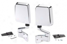 Bestop Mirrors, Highrock 4x4 Chrome, Pair