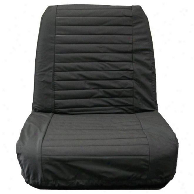 Bestop Seat Cover Low Back Bucket Paid Black Denim