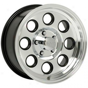 """black Rock Aluminum Wheel  908 Yuma Machined Clear Coat 15x8"""" - 5x5.5 Bolt Pattern Back Spacign 3 3/4"""""""