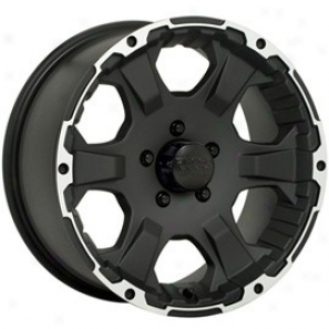 """black Rock Aluminum Wheel   910 Intruder Black Matte 18x8.5 - 5x5 Bolt Pattern Back Spacing 6"""""""