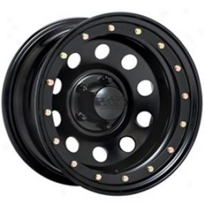 """""""black Rock Steel Wheel 905 Defender Matte Black 15x7"""""""" - 5x4.5 Bolt Pattern Back Spacing 4 1/2"""""""""""""""