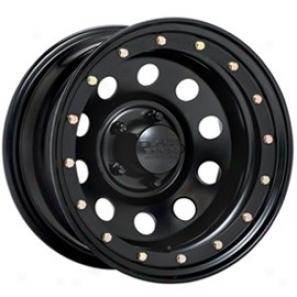 """""""black Rock Steel Wheel 905 Defender Mtte Black 15x12"""""""" - 5x4.5 Bolt Pattern Back Spacong 4"""""""""""""""