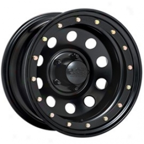 """black Rock Steel Wheel 905 Defender Matte Black 15x8"""" - 5x5.5 Bolt Pattern Back Spacing 3 3/4"""""""