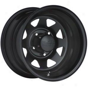 """black Rock Steel Wheel 929 Black Jack Matte Black 15x8""""- 5x5.5 Bolt Pattern Back Spacing 4"""""""