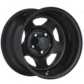 """black Rock Steel Wheel 941 Dune Matte Black 16x7"""" - 5x5 Bolt Pattern Back Spacing 4"""""""