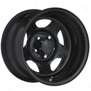 """black Rock Steel Wheel 941 Dune Matte Black 15x10"""" - 5x4.5 Swallow  Pattern Back Spacing 4"""""""