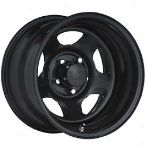 """black Rock Steel Wheel 941 Dune Matte Black 15x8"""" 5x4.5 Bolt Pattern Back Spacing 4 3/4"""""""